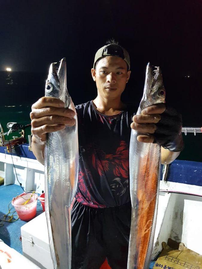 綠島夜釣-老顧客釣手