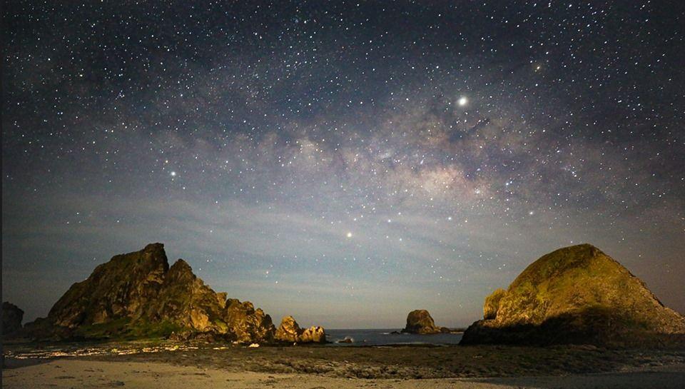 綠島潮間帶-夜遊下的星空